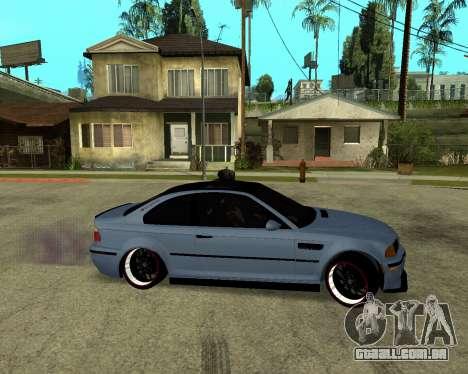 BMW M3 Armenian para GTA San Andreas traseira esquerda vista