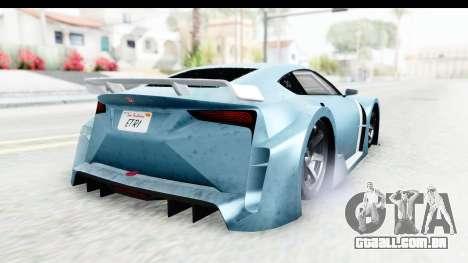 GTA 5 Emperor ETR1 v2 IVF para GTA San Andreas traseira esquerda vista