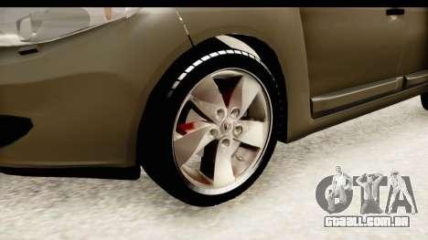 Renault Fluence v2 para GTA San Andreas vista traseira