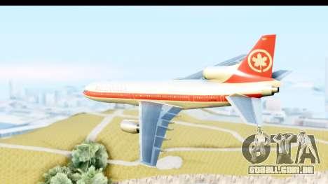 Lockheed L-1011-100 TriStar Air Canada para GTA San Andreas esquerda vista