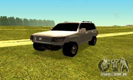 Toyota Land Cruiser 105V para GTA San Andreas vista direita