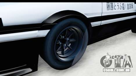NFS 2015 Toyota AE86 para GTA San Andreas vista traseira