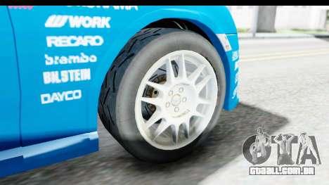 Subaru BRZ Rally para GTA San Andreas vista traseira