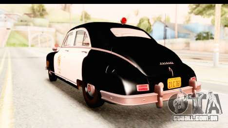 Packard Standart Eight 1948 Touring Sedan LAPD para GTA San Andreas esquerda vista