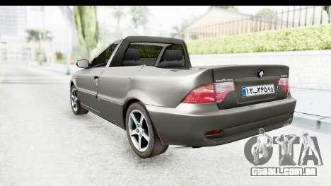 Ikco Samand Pickup v1 para GTA San Andreas esquerda vista