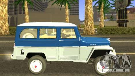 Jeep Station Wagon 1959 para GTA San Andreas traseira esquerda vista