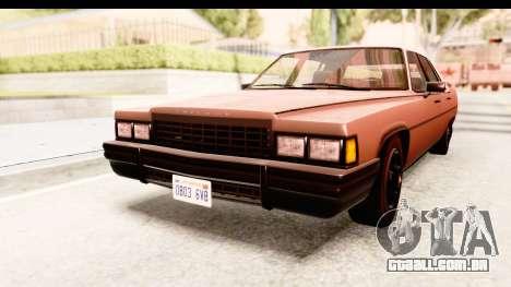 GTA 5 Albany Emperor SA Style para GTA San Andreas traseira esquerda vista