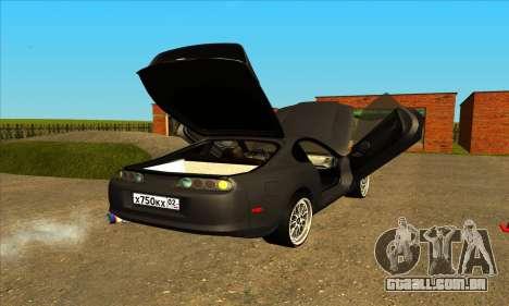 Toyota Supra Lambo para GTA San Andreas traseira esquerda vista