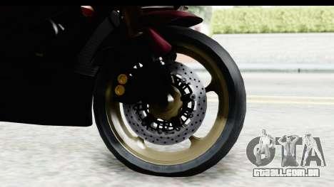 Yamaha YZF-R6 2008 para GTA San Andreas vista traseira