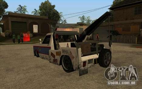 Novo reboque para GTA San Andreas traseira esquerda vista