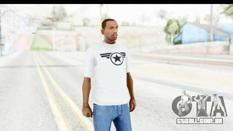Captain America White T-Shirt para GTA San Andreas segunda tela