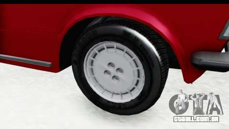 Zastava 125PZ Roadster Coupe para GTA San Andreas vista traseira