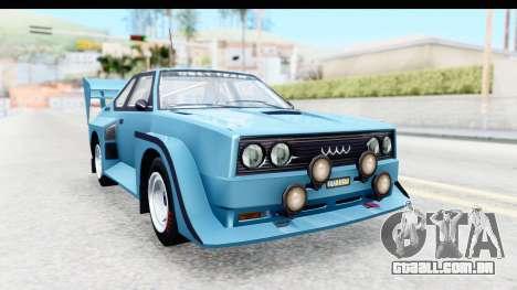 GTA 5 Obey Omnis para GTA San Andreas traseira esquerda vista