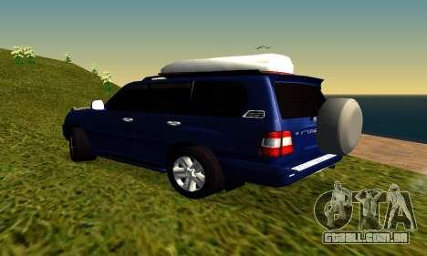 Toyota Land Cruiser 100vx2 para GTA San Andreas vista direita