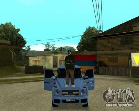 Armenian Skin para GTA San Andreas sexta tela