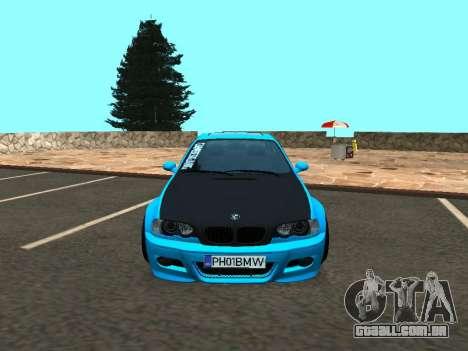 BMW M3 E46 Postura para GTA San Andreas vista traseira