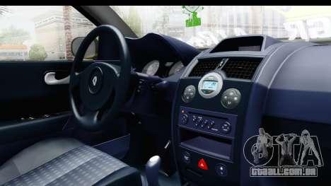Renault Megane para GTA San Andreas vista interior