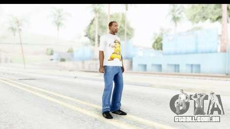 T-Shirt Pokemon Go Pikachu para GTA San Andreas terceira tela