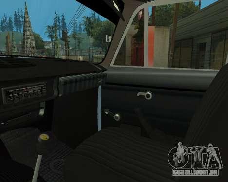 Moskvich 2715 Arménio para GTA San Andreas vista inferior