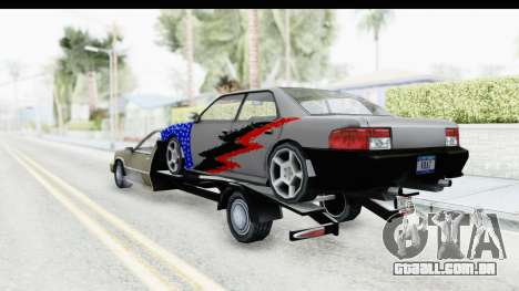 Limousine Auto Transporter para GTA San Andreas traseira esquerda vista
