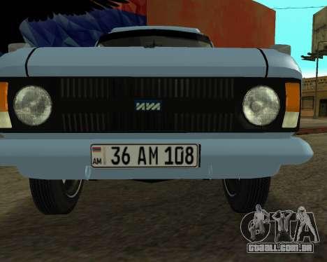 Moskvich 2715 Arménio para GTA San Andreas vista direita