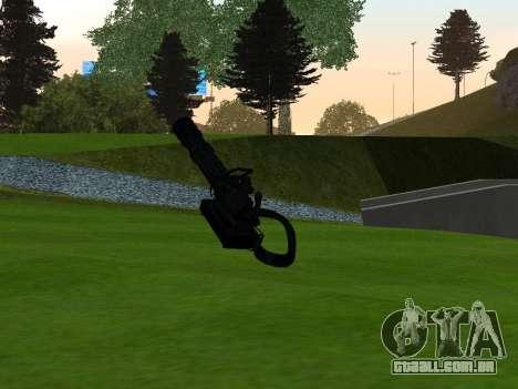 M134 MINIGUN BLACK para GTA San Andreas segunda tela