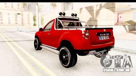 Dacia Duster Pickup para GTA San Andreas esquerda vista