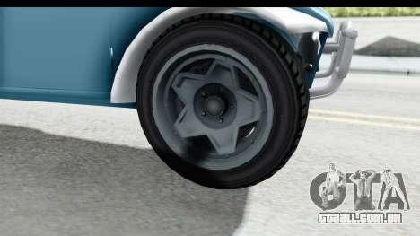 GTA 5 BF Injector para GTA San Andreas vista traseira