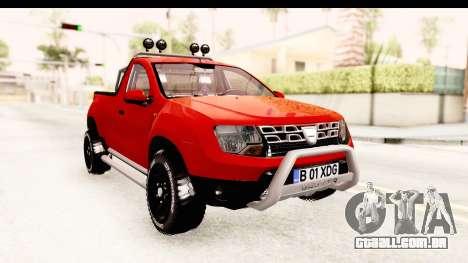 Dacia Duster Pickup para GTA San Andreas vista direita