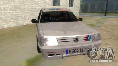 Peugeot 309 Rallye para GTA San Andreas vista traseira