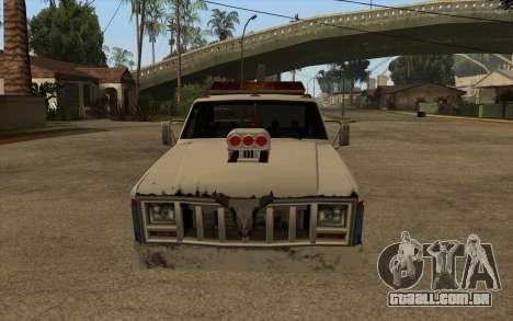 Novo reboque para GTA San Andreas esquerda vista