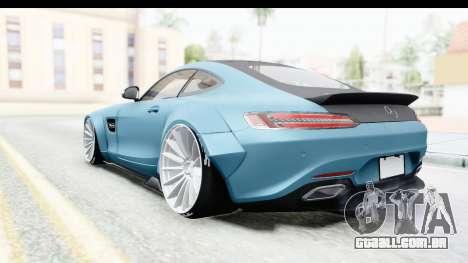 Mercedes-Benz AMG GT Prior Design para GTA San Andreas traseira esquerda vista