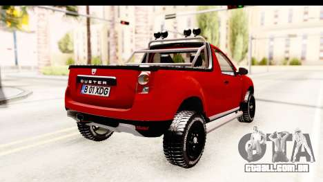 Dacia Duster Pickup para GTA San Andreas traseira esquerda vista