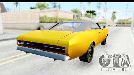 Imponte Dukes 1971 para GTA San Andreas traseira esquerda vista