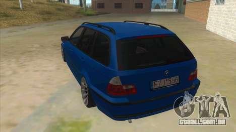 BMW E46 Touring Facelift para GTA San Andreas traseira esquerda vista