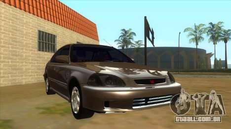 Honda Civic Sedan Stock para GTA San Andreas vista traseira