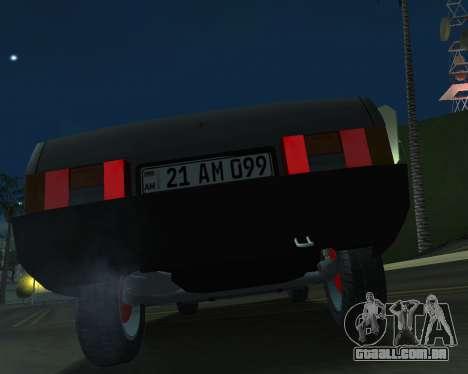 Vaz 21099 ARMNEIAN para GTA San Andreas vista traseira