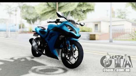 Kawasaki Ninja 300R para GTA San Andreas vista direita