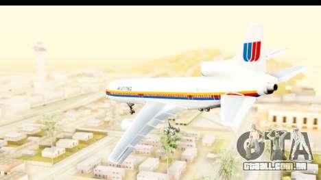 Lockheed L-1011-100 TriStar United Airlines para GTA San Andreas esquerda vista