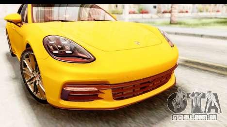 Porsche Panamera 4S 2017 v3 para GTA San Andreas vista interior