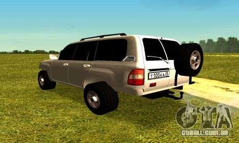 Toyota Land Cruiser 105V para GTA San Andreas esquerda vista