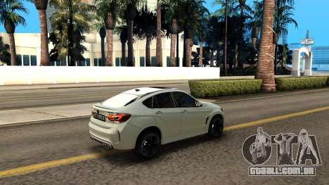 BMW X6M Bulkin Edition para vista lateral GTA San Andreas
