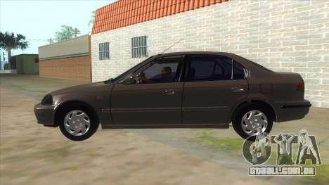 Honda Civic Sedan Stock para GTA San Andreas esquerda vista