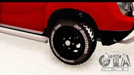 Dacia Duster Pickup para GTA San Andreas vista traseira