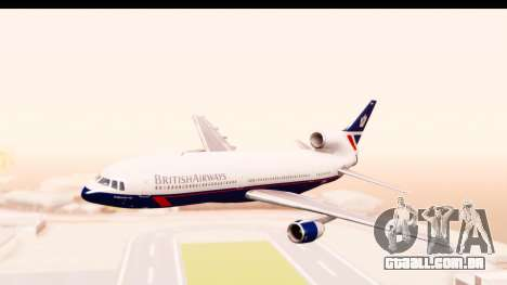 Lockheed L-1011-100 TriStar British Airways para GTA San Andreas traseira esquerda vista