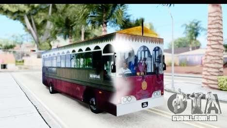 Cas Ligas Terengganu City Bus Updated para GTA San Andreas vista direita