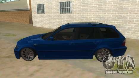BMW E46 Touring Facelift para GTA San Andreas esquerda vista