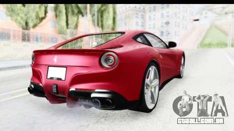 Ferrari F12 Berlinetta 2014 para GTA San Andreas vista direita