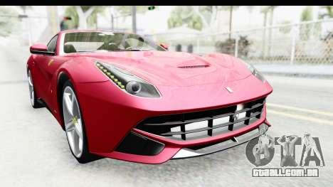 Ferrari F12 Berlinetta 2014 para vista lateral GTA San Andreas