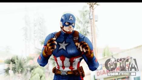 Marvel Heroes - Capitan America CW para GTA San Andreas por diante tela